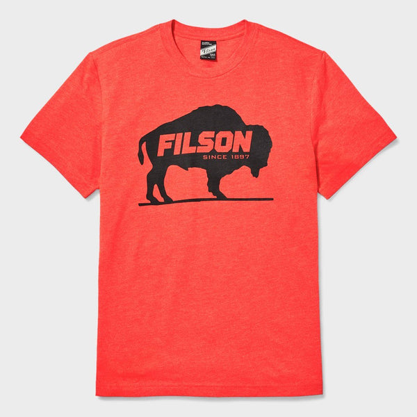 product: Filson Buckshot T-Shirt Buffalo Cardinal Red