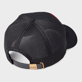 product: Filson Canvas Mesh Logger Cap Black