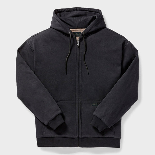 product: Filson CCF Waffle Lined Full-Zip Black Hoodie