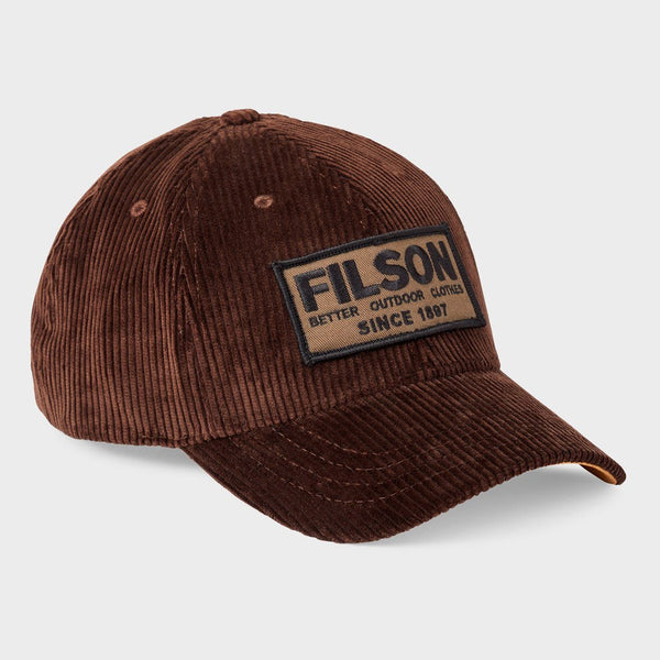 product: Filson Cord Logger Cap Dark Brown