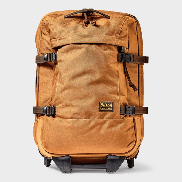 product: Filson Dryden 2-Wheel Carry-On Whiskey