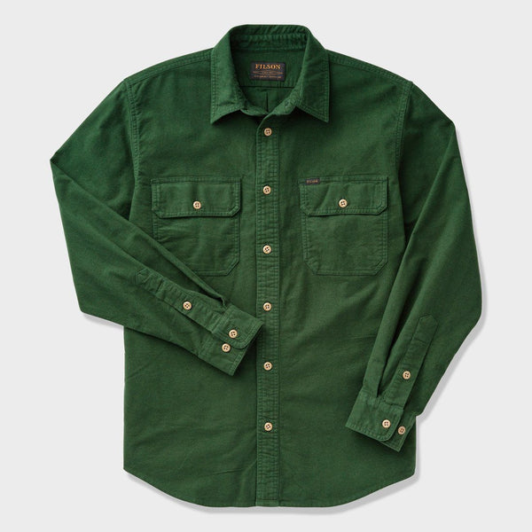 product: Filson Field Flannel Shirt Dark Moss