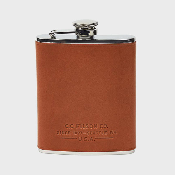 product: Filson Flask Tan Leather