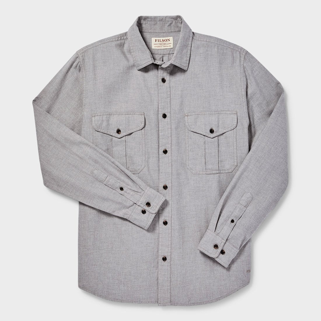 Filson Lightweight Alaskan Guide Shirt Heather Grey