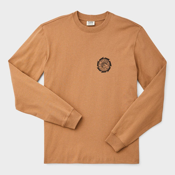 product: Filson Outfitter Graphic Shirt Rugged Tan (Saw Blade)