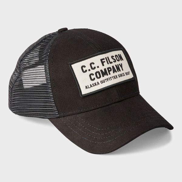 product: Filson Mesh Snap-Back Logger Cap Black