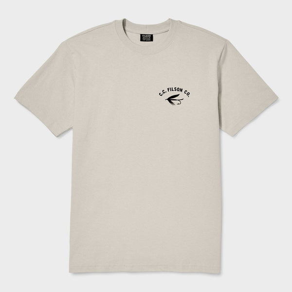 product: Filson Outfitter Graphic T-Shirt Light Stone Fly