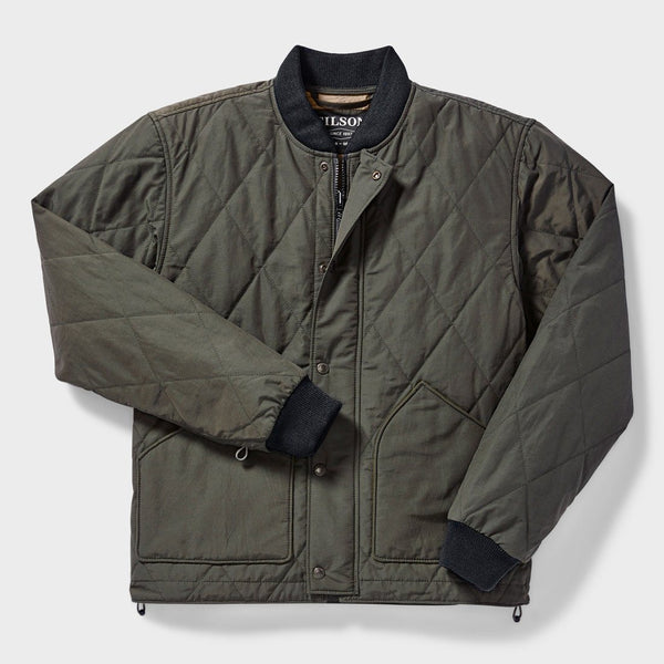 product: Filson Quilted Pack Jacket Dark Otter Green