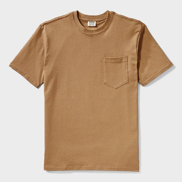 product: Filson Outfitter Solid One Pocket T-shirt Rugged Tan