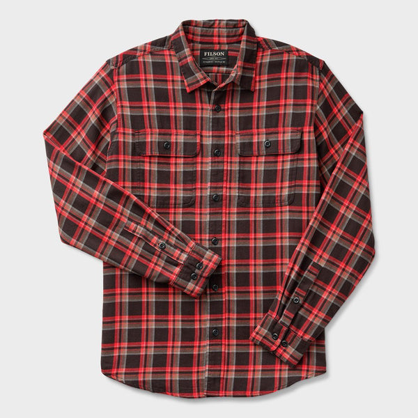 product: Filson Scout Shirt Black/ Red/ Brown Plaid