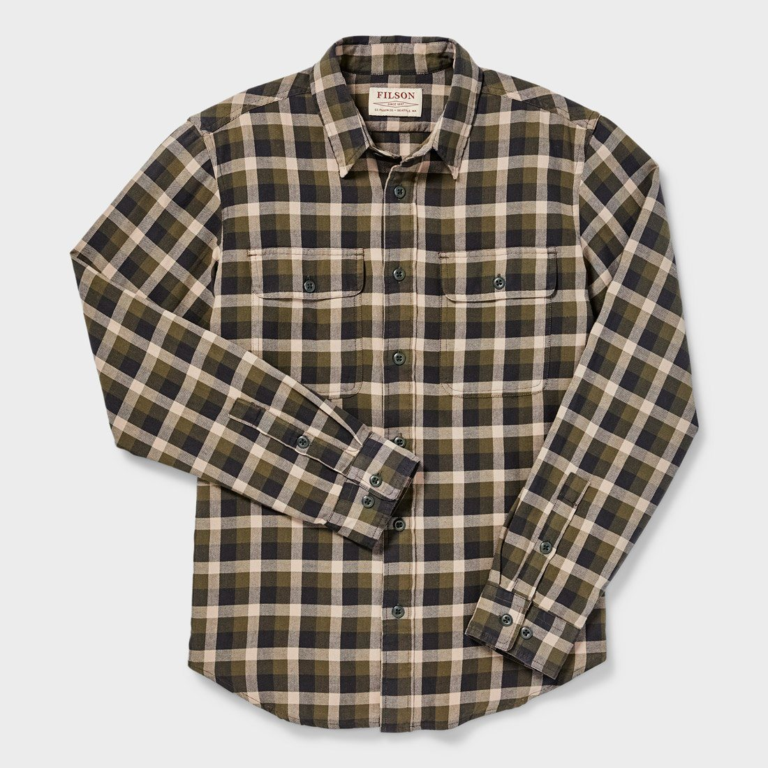 Filson Scout Shirt Olive/ Brown Plaid