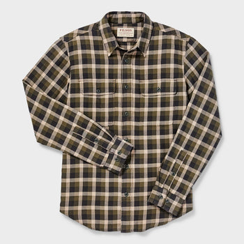 product: Filson Scout Shirt Olive/ Brown Plaid