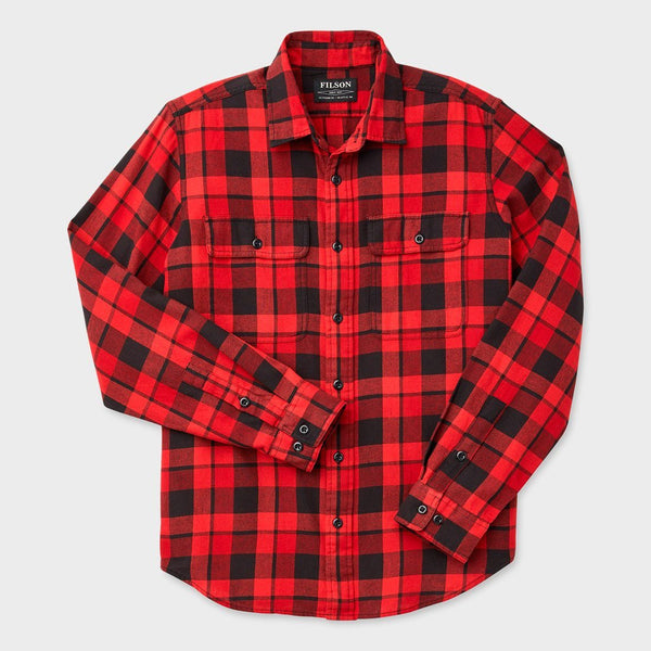 product: Filson Scout Shirt Black/ Scarlet