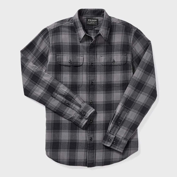 product: Filson Scout Shirt Gray/ Black Plaid