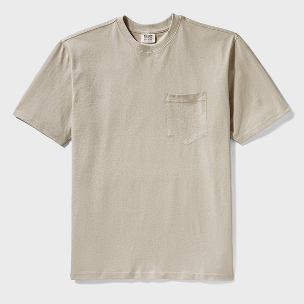 product: Filson Short Sleeve Outfitter Solid One Pocket T-Shirt Pebble Gray