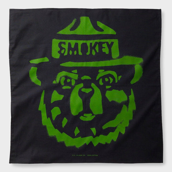 product: Filson Smokey Bear Bandana Midnight (Stencil)