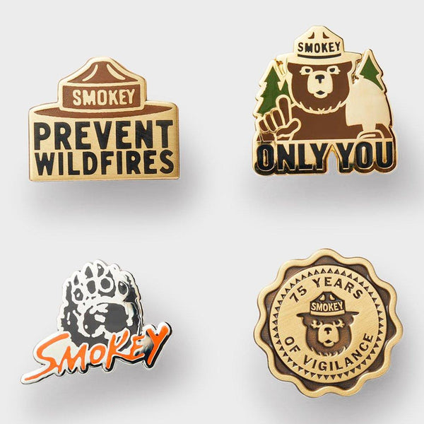 product: Filson Smokey Bear Enamel Pin Set Black