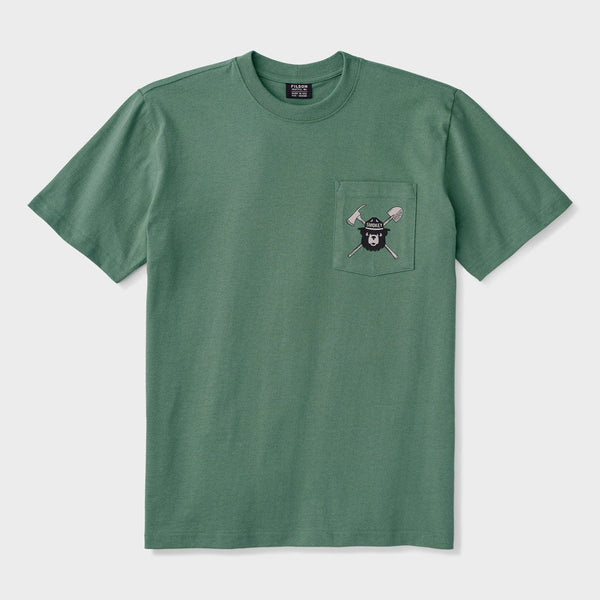 product: Filson Smokey Bear One Pocket T-shirt Service Green