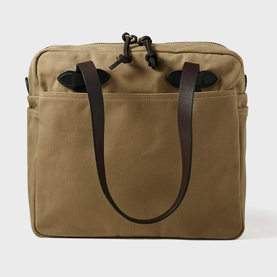 590118d5885 Filson Tote Bag with Zipper Tan