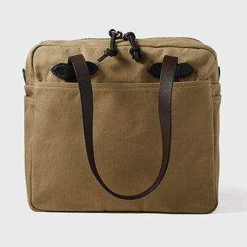product: Filson Tote Bag with Zipper Tan
