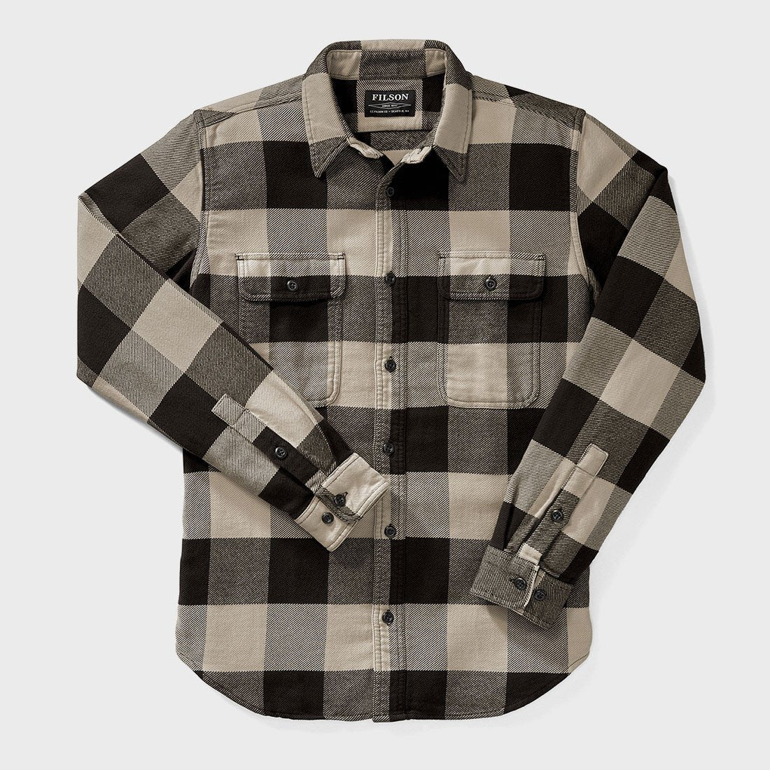 Filson Vintage Flannel Work Shirt Black/Cream