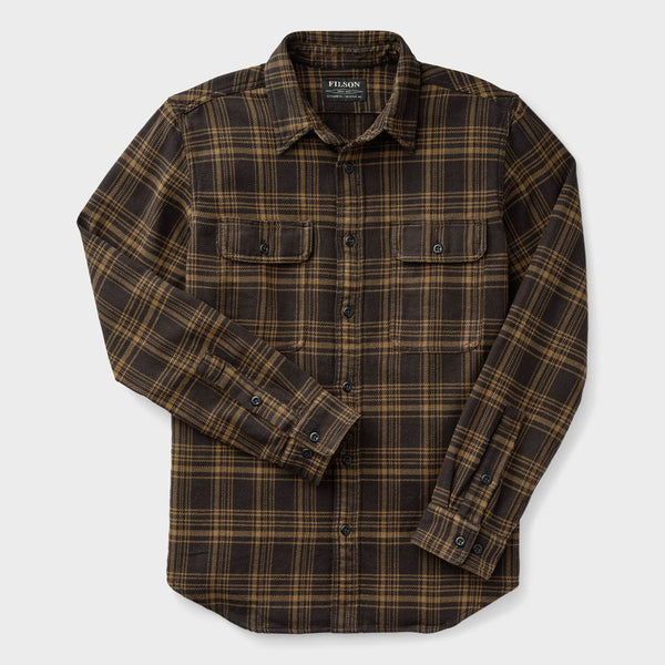 product: Filson Vintage Flannel Work Shirt Black/ Olive Plaid