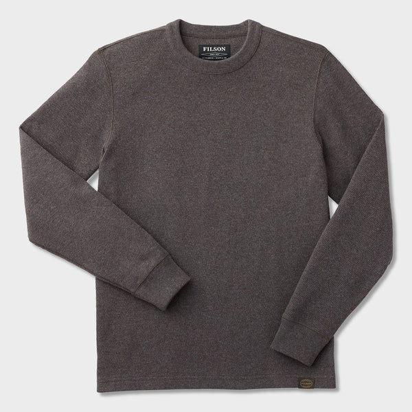 product: Filson Waffle Knit Thermal Crew Charcoal