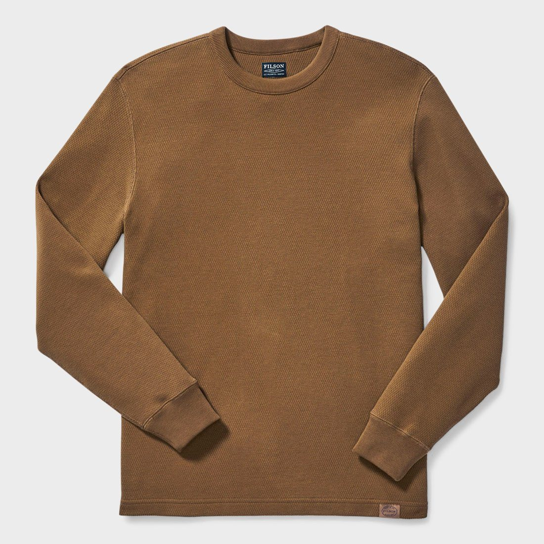 Filson Waffle Knit Thermal Crew Olive