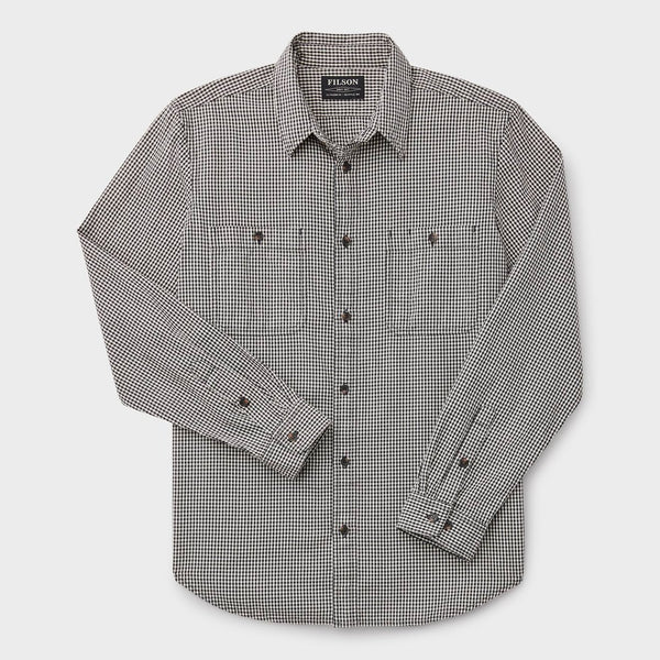 product: Filson Wildwood Shirt Black/ Cream Check