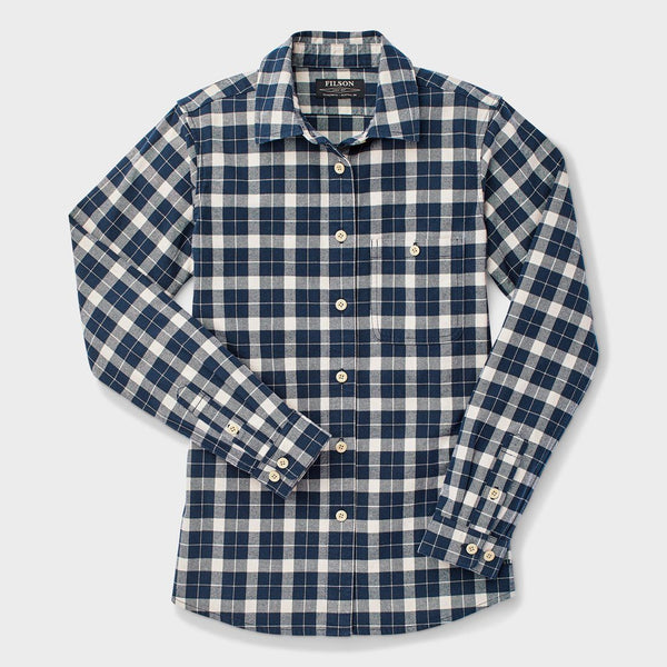 product: Filson Women's Alaskan Guide Shirt Dark Navy Cream