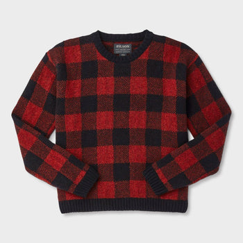 product: Filson Women's Buffalo Check Sweater Red/ Black Check
