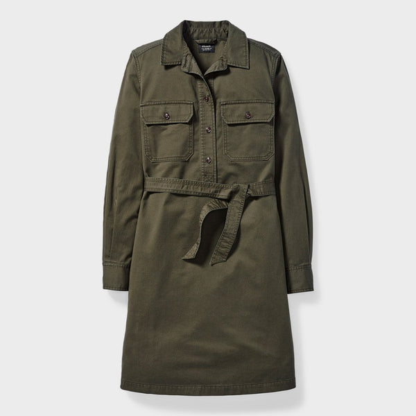 product: Filson Women's Colville Twill Shirt Dress Olive