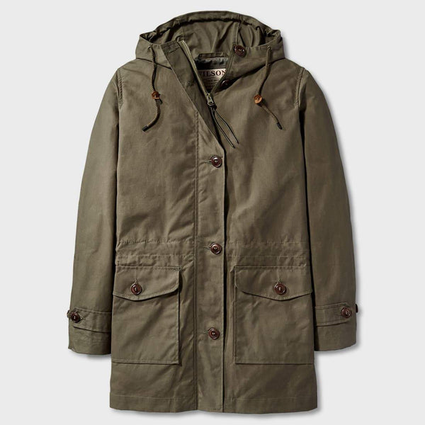 product: Filson Women's Parka Olive Grey