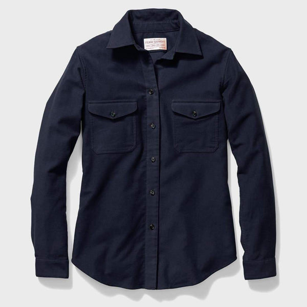 product: Filson Women's Moleskin Shirt Navy