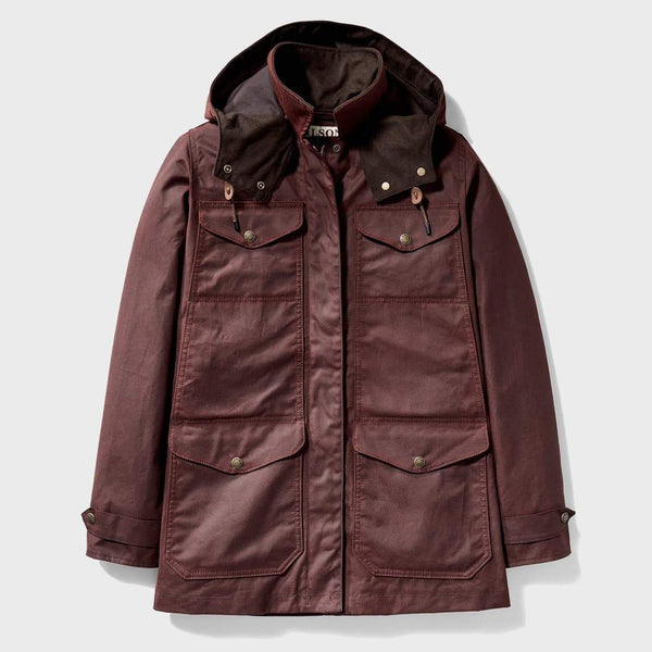 product: Filson Women's Moorcroft Jacket Burgundy