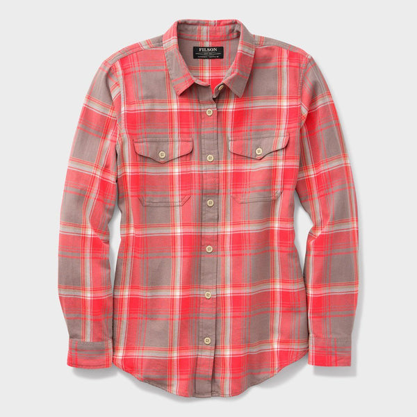 product: Filson Women's Scout Shirt Gray/ Red/ White Plaid