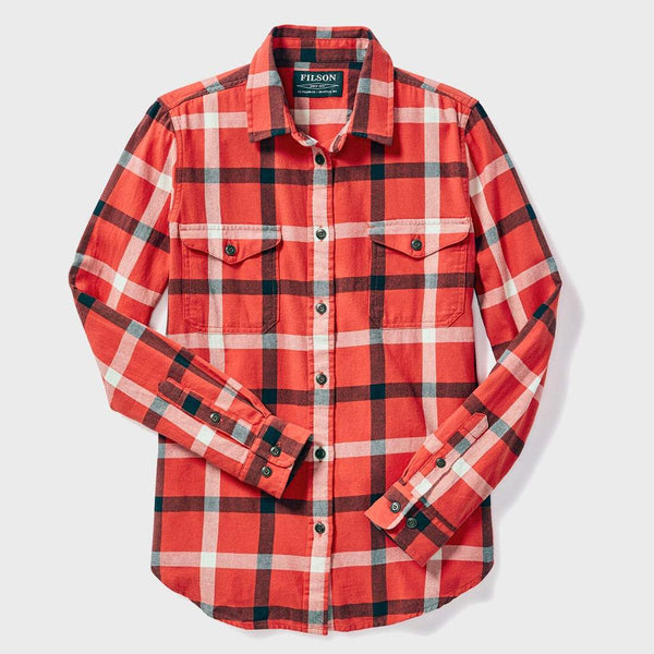 product: Filson Women's Scout Shirt Red Black Cream