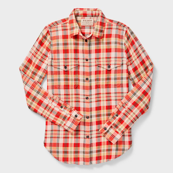 product: Filson Women's Scout Shirt Red/ White/ Gold