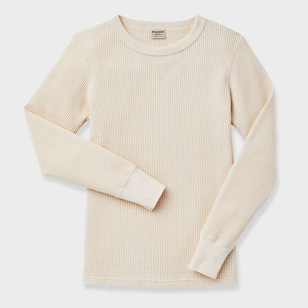 product: Filson Women's Waffle Knit Thermal Crew Natural
