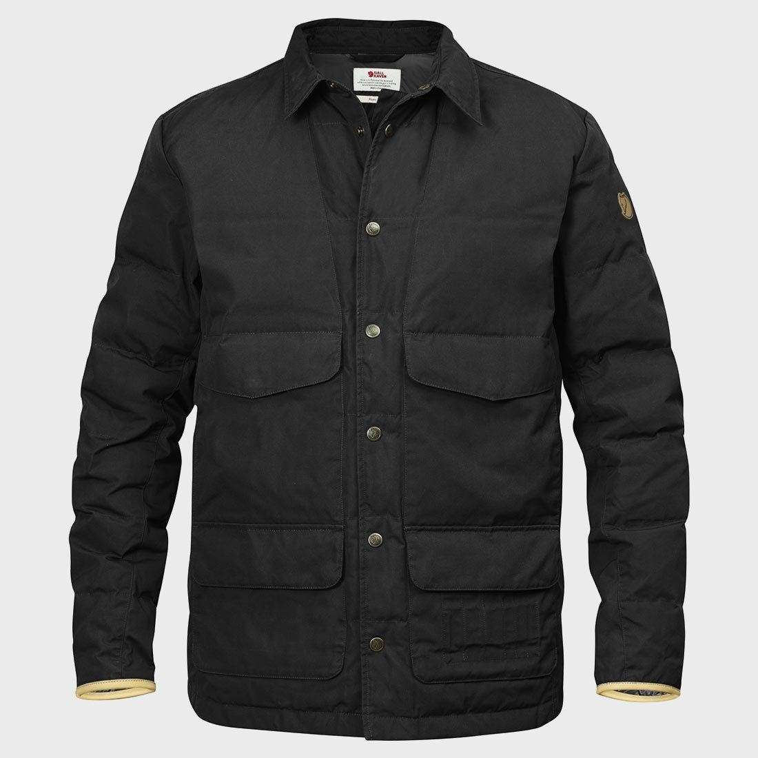 Fjallraven Sormland Down Shirt Jacket Black