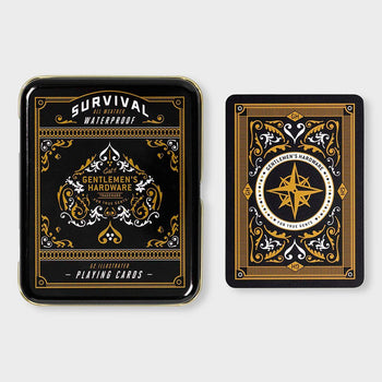 product: Gentlemen's Hardware Survival Playing Cards