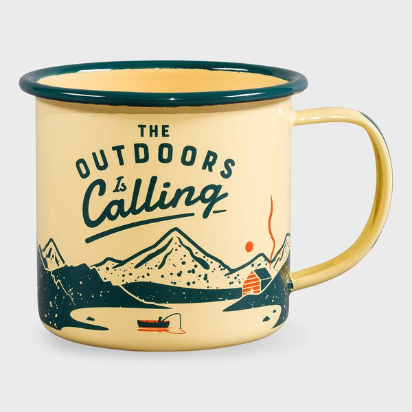 product: Gentlemen's Hardware Enamel Mug Outdoors Cream