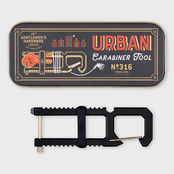 product: Gentlemen's Hardware Urban Carabiner Tool Black