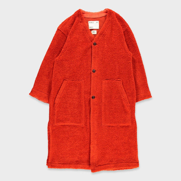 product: Girls of Dust Liner Coat Spencer Fur Tangerine