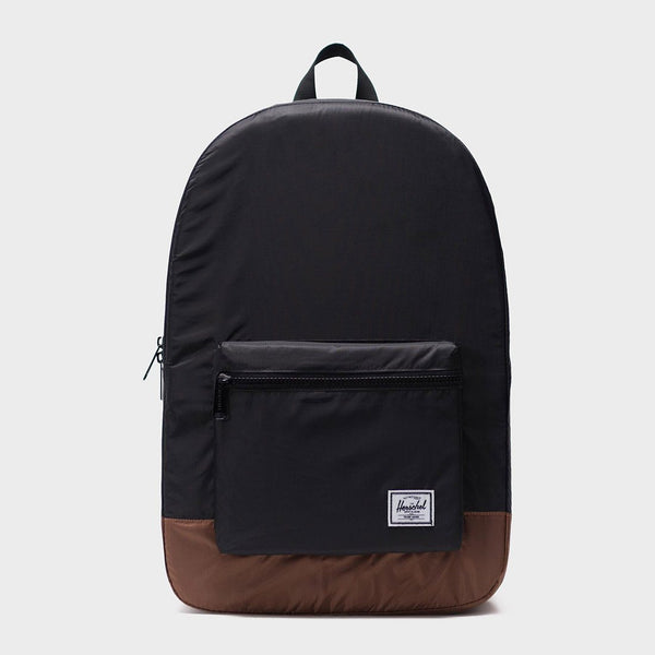 product: Herschel Packable Daypack Black/ Saddle Brown