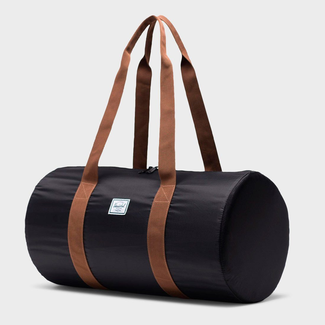 Herschel Packable Duffle 22L Black/ Saddle Brown