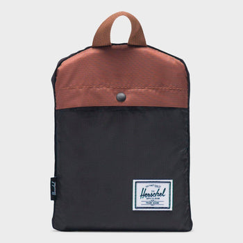 product: Herschel Packable Duffle 22L Black/ Saddle Brown