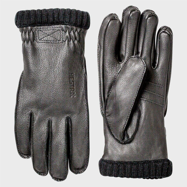 product: Hestra Deerskin Primaloft Ribbed Gloves Black