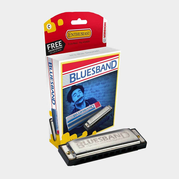 product: Hohner Bluesband C Harmonica Silver
