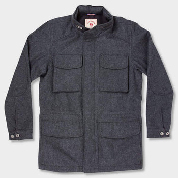 product: Iron & Resin Barracks Jacket Heather Charcoal
